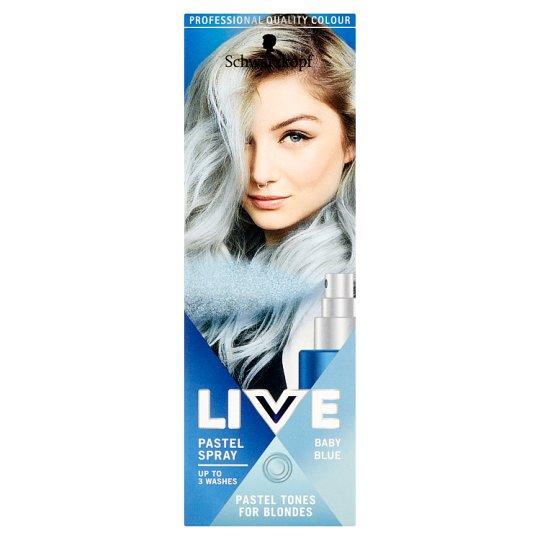 Schwarzkopf Live Pastel Spray zmývateľná farba Baby Blue 125 ml