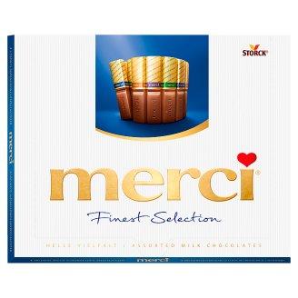 Merci 4 druhy mliečnych čokoládových špecialít 250 g