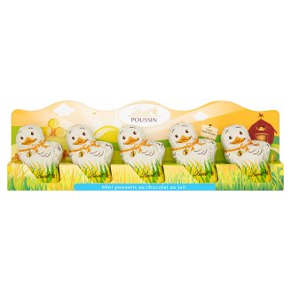 Lindt Mini Chick Hollow Figures from Milk Chocolate 5 x 10 g