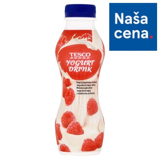 Tesco Yoghurt Drink with Raspberry Flavour 350 g