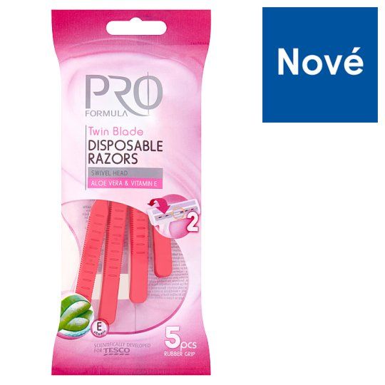 Tesco Pro Formula Twin Blade Disposable Razors for Women 5 pcs