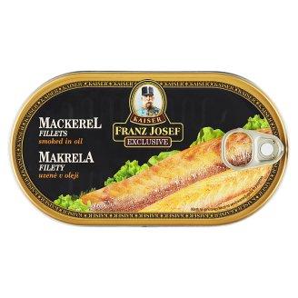Kaiser Franz Josef Exclusive Údená makrela filety v oleji 170 g