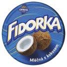 Opavia Fidorka Plnená oblátka s kokosovou náplňou celomáčaná v mliečnej čokoláde 30 g