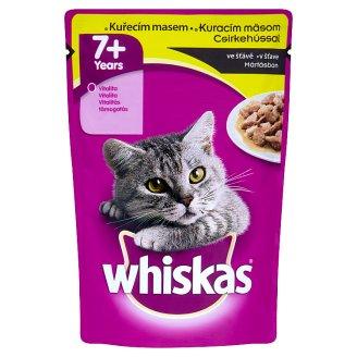 Whiskas Kompletné krmivo pre staršie mačky od 7 rokov s kuracím mäsom v šťave 100 g