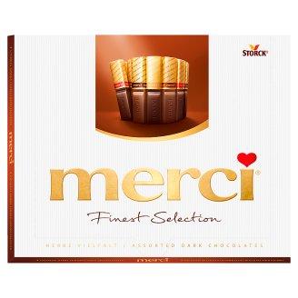 Merci 4 druhy čokoládových špecialít z horkej čokolády 250 g