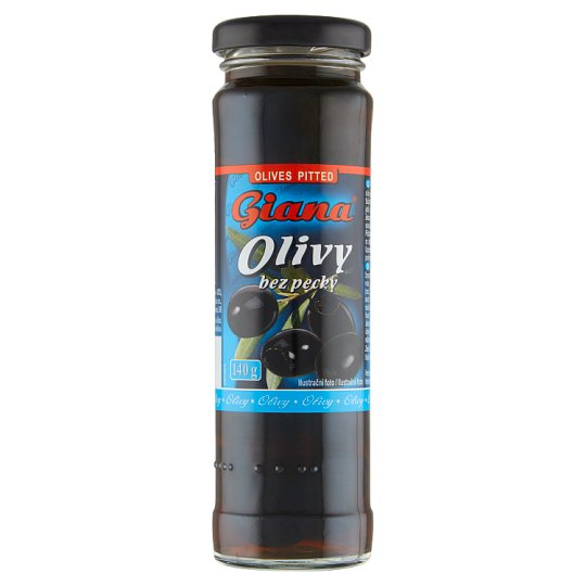 Giana Spanish Black Olives without Stones in Salty Brine 140 g