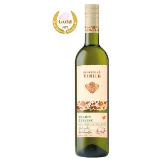 Slovenské Vinice Tramín červený slovenské akostné odrodové biele suché víno 0,75 l