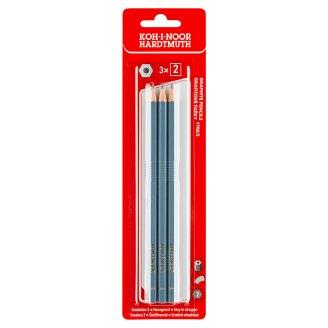 KOH-I-NOOR Grafitové školské ceruzky B-2 3 ks