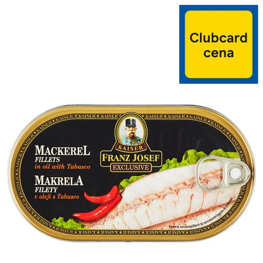 Kaiser Franz Josef Exclusive Makrela filety v oleji s tabascom 170 g