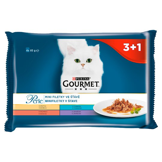 GOURMET Perle Multipack - mini filetky v šťave 4 x 85 g