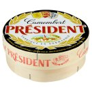 Président Camembert Natural Soft Ripened Cheese with a White Mold on The Suface of Whole Milk 250 g