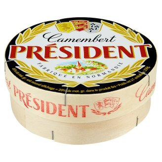 Président Camembert prírodný mäkký zrejúci syr s bielou plesňou na povrchu plnotučný 250 g
