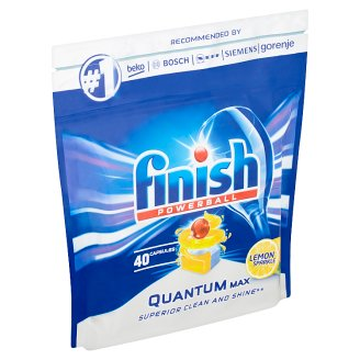 Finish Powerball Quantum Max Lemon Sparkle tablety do umývačky riadu 40 ks 620 g