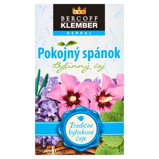 Bercoff Klember Herbal Pokojný spánok bylinný čaj 20 x 1,5 g