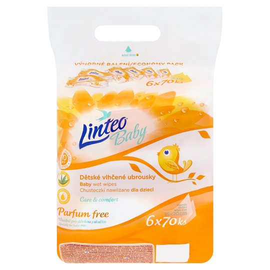 Linteo Baby Baby Wet Wipes 6 x 70 g