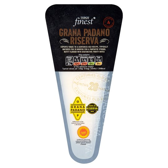Tesco Finest Grana Padano Half-Fat Hard Italian Cheese 170 g