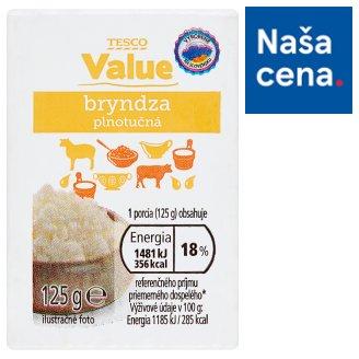 Tesco Value Sheep Cheese Full Fat 125 g