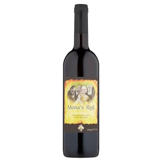 Mona's Red červené víno polosladké 0,75 l