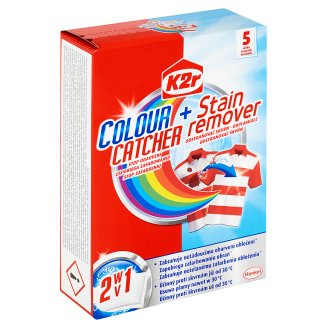 K2r 2v1 Colour Catcher + Stain Remover 5 Bags 30 g