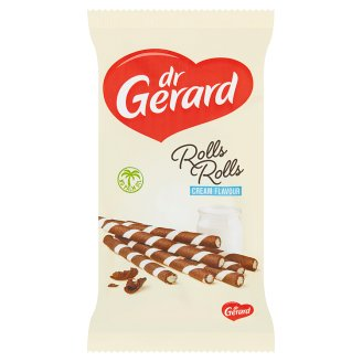 dr Gerard Zebra vaflové kakaové trubičky plnené smotanovým krémom 160 g