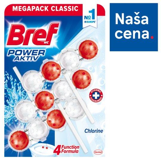 Bref Power Aktiv Chlorine tuhý WC blok 3 x 50 g