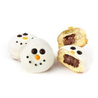 Donut Snowman with Hazelnut Filling 85 g