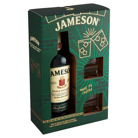 Jameson Irish Whiskey 40% Gift Set 0.7 L + 2 Glasses