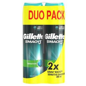 Gillette Mach3 Complete Defense Sensitive Pánsky Gél Na Holenie Na Citlivú Pokožku 200 ml x2