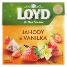 Loyd Ovocný čaj aromatizovaný jahody s vanilkou 20 x 2 g