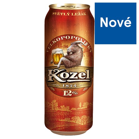 Velkopopovický Kozel 12 % Premium Light Lager Beer 500 ml