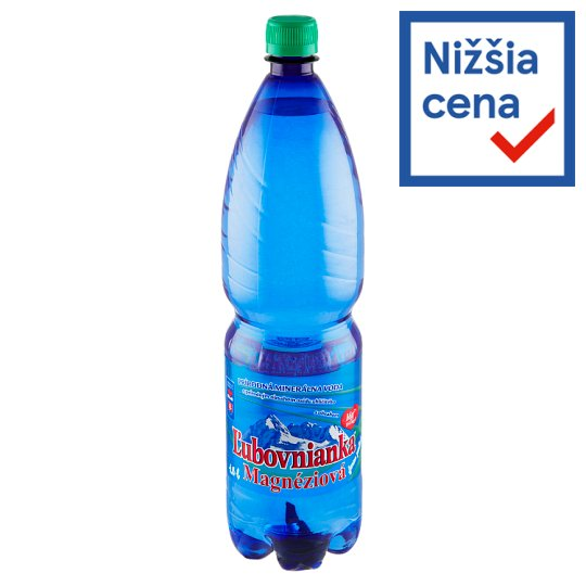 Ľubovnianka Magnesium Lightly Carbonated Natural Mineral Water 1.5 L