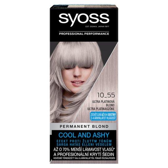 Syoss Blond Cool Blonds farba na vlasy Ultra Platinový Blond 10-55