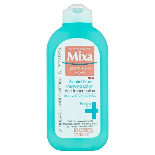 Mixa Sensitive Skin Expert Čistiaca a zmatňujúca pleťová voda bez alkoholu 200 ml