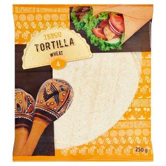 Tesco Pšeničná placka tortila 4 x 62,5 g
