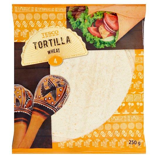 Tesco Tortilla Wheat 4 x 62.5 g