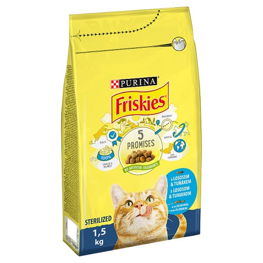 FRISKIES Sterile Cat s lososom a so zeleninou 1,5 kg