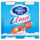 Tesco Jogurtový nápoj s jahodovou príchuťou a kultúrou L. paracasei 4 x 100 g