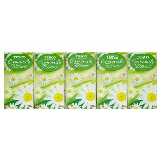 Tesco Pocket Tissues with Camomile 4-Ply 10 x 10 pcs