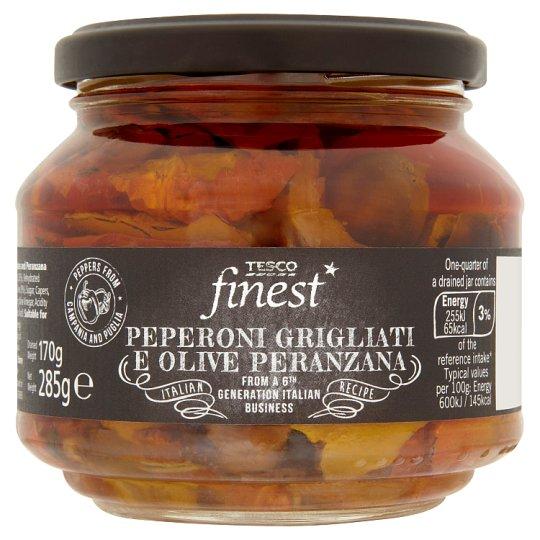 Tesco Finest Peperoni Grigliati E Olive Peranzana 285 g