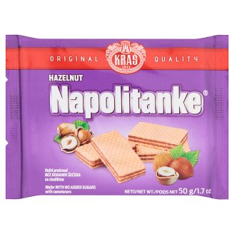 Kraš Napolitanke Wafers with Hazelnut Filling 50 g