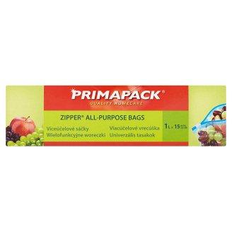 Primapack Zipper All-Purpose Bags 1 L 15 pcs