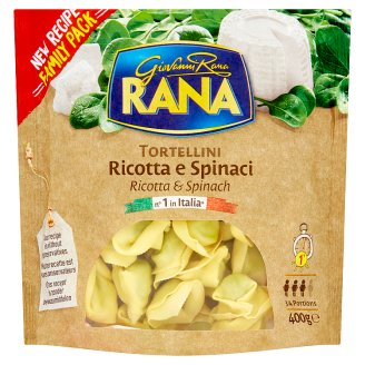 Rana Tortellini Fresh Egg Pasta with Ricotta Cheese and Spinach Filling 400 g