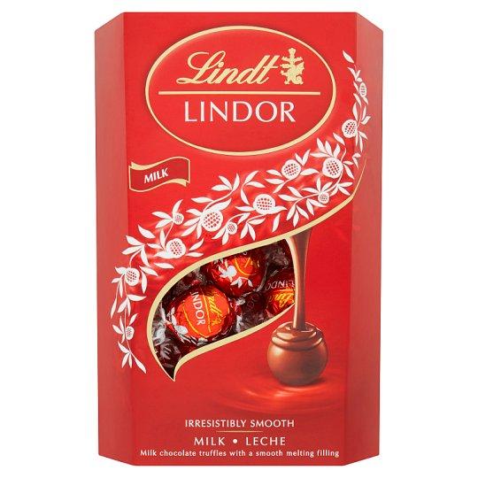 Lindt Lindor Mliečna čokoláda s jemnou krémovou náplňou 337 g