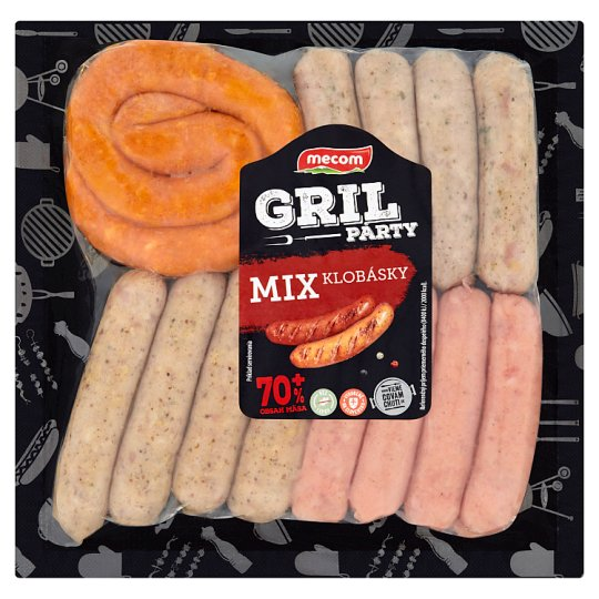 Mecom Gril párty klobásky - mix 380 g