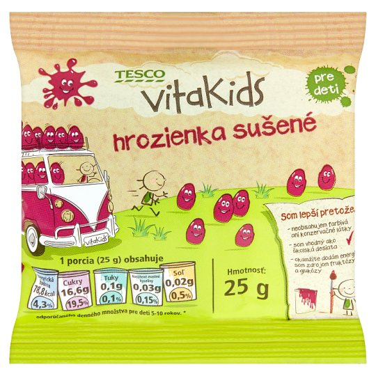 Tesco Vitakids Hrozienka sušené 25 g