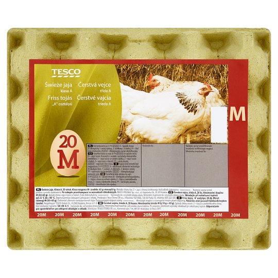Tesco Čerstvé vajcia M 20 ks