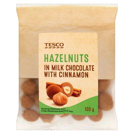 Tesco Hazelnuts in Milk Chocolate with Cinnamon 100 g