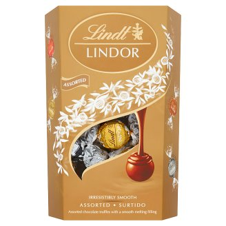 Lindt Lindor Zmes čokoládových bonbónov s jemnou krémovou náplňou 337 g