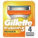 Gillette Fusion5 Power Náhradné Holiace Hlavice 4 Ks
