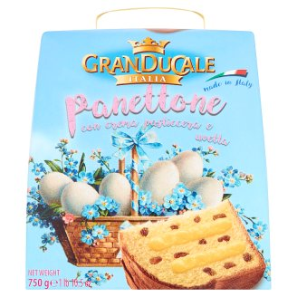 Granducale Panettone with Sultanas Filled with Pudding Cream 750 g